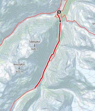 Karte / Venter Runde im UZS, Etappe 1: Vent - Martin-Busch-Hütte