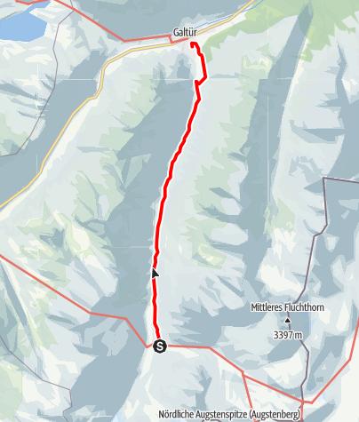 Karte / Jamtalhütte - Galtür