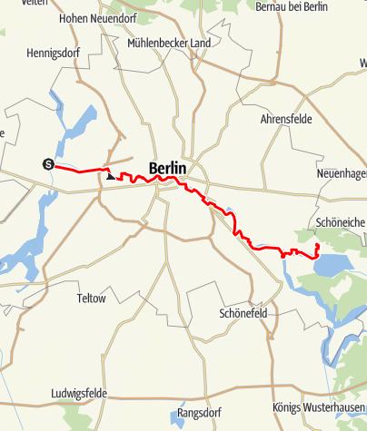 Karte / S Spandau - S Friedrichshagen
