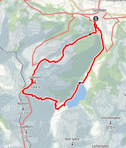 Karte / Gaishorn Tannheimer Tal