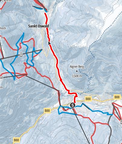 Karte / WW 14: Wasser-Erlebnis-Weg-Winterwanderung