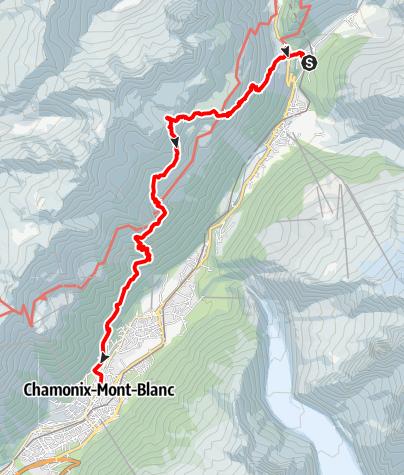 Map / TMB2019 en 8 jours:18.07-8° jour Tré le Champ-Lac Blanc-Chamonix les Nants