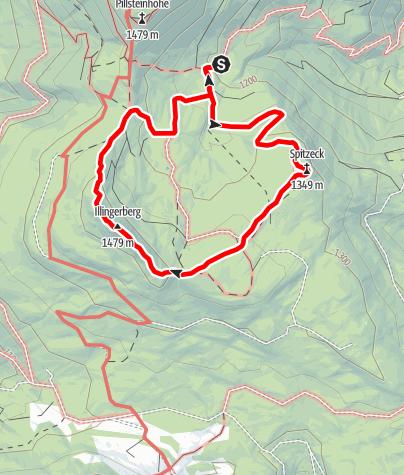 Karte / Illinger Alm - Runde
