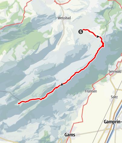 Karte / Etappe 1 - Transalp Zentralalpen