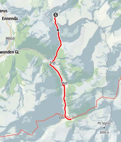 Karte / Etappe 4 - Transalp Zentralalpen