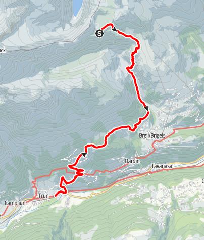 Karte / Etappe 7 - Transalp Zentralalpen