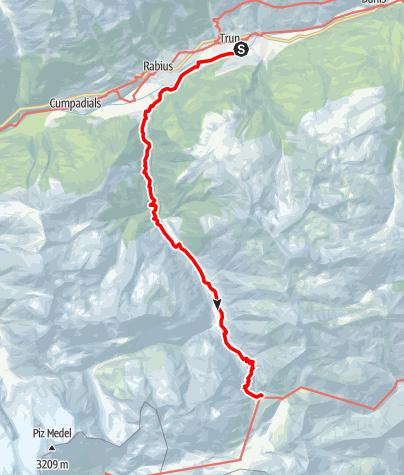 Karte / Etappe 8 - Transalp Zentralalpen