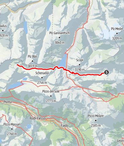 Karte / Etappe 10 - Transalp Zentralalpen