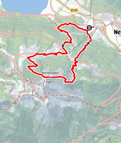 Karte / 2019-07-17 / Wandern / Nesselwängle - Krinnenspitze