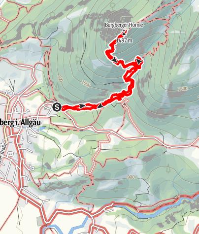 Karte / 2019-05-26 / Wandern / Burgberger Hörnle