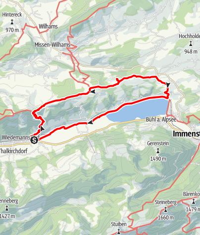 Karte / 2019-06-02 / Wandern / Wiedemannsdorf - Thaler Höhe - Jugetköpfle - Bühl Alpsee