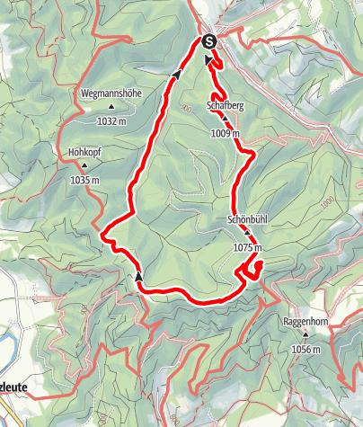 Karte / 2019-06-10 / Wandern / Eisenbach - Schwarzer Grat