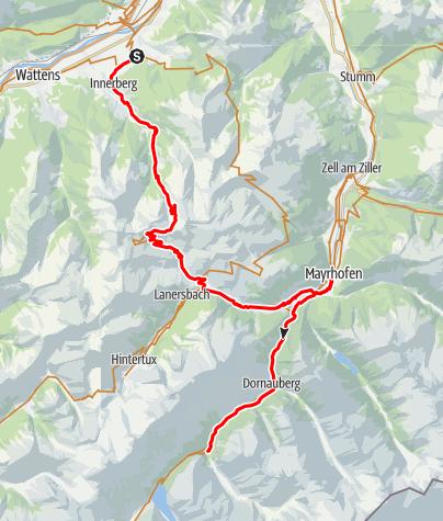 Karte / Via Schagra Tag 2