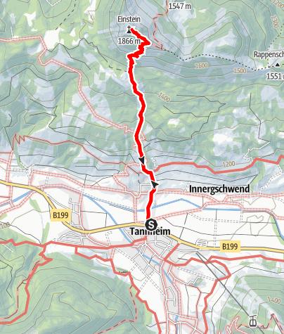 Karte / Einstein Tannheim