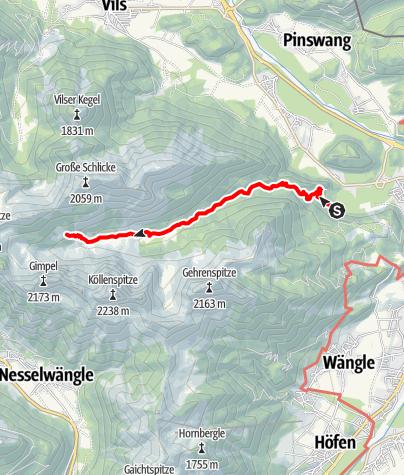 Karte / Zur Otto-Mayr-Hütte von der Bärenfalle