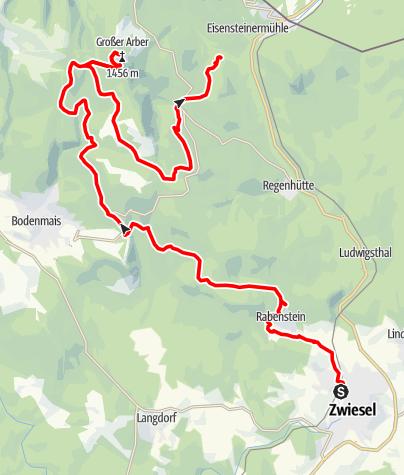 Karte / BayW-MTB:  Zwiesel-Gr.Arber-Arbersee-Arberhütte