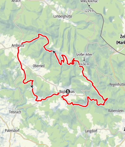 Karte / BayW-MTB: Schachtentour-v2
