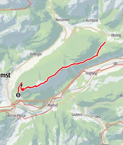 Karte / Überschreitung Tschirgant