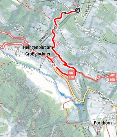 Karte / Rossbach - Heiligenblut (11. August 2019)
