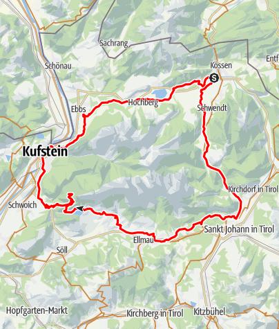 Karte / Rund um Wilden und Zahmen Kaiser