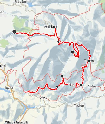 Map / Über die Sierra Nevada und durch die Alpujarra (Etappentour)