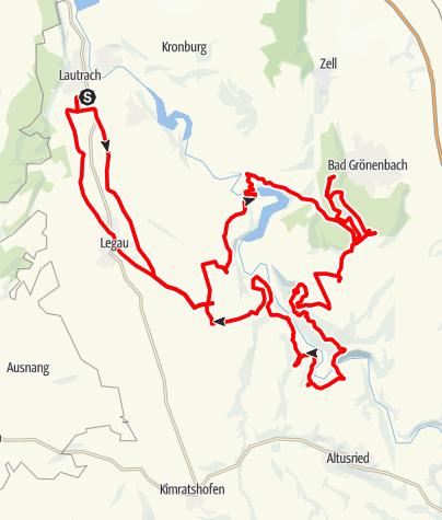Karte / 2019-08-17 / Mtbiken / Lautrach - Legau - Bettrichs - Bad Grönenbach - Pfosen - Fluhmühle