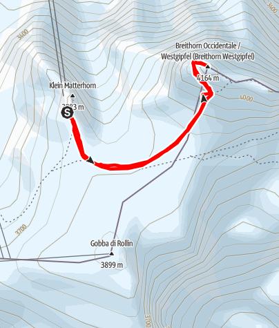 Karte / Breithorn 4164