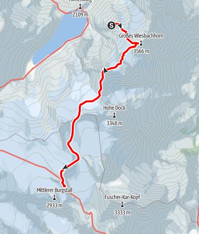 Karte / Vom Heinrich Schwaiger Haus zur Oberwalder Hütte