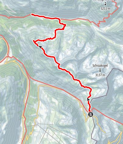 Karte / Timmelsjoch - Brunnenkogelhaus - Windachtal