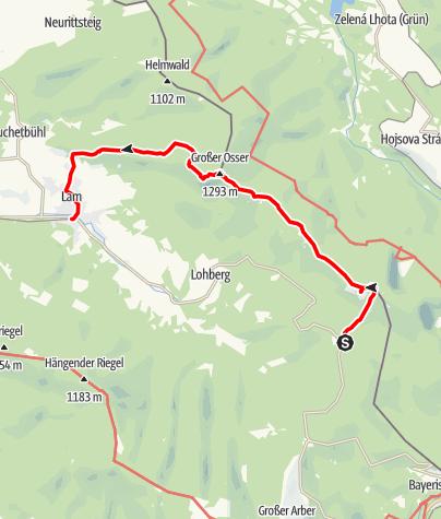 Karte / vom Zwercheneck zum Osser