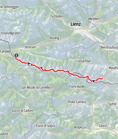 Karte / Erste Hälfte Karnischer Höhenweg