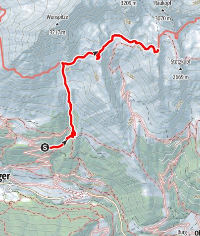 Karte / 2020 dag 1 Voorstel huttentocht Virgental