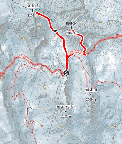 Karte / 2020 dag 2 Voorstel huttentocht Virgental