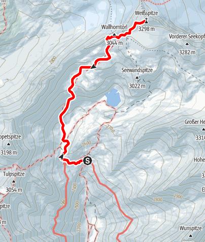Karte / 2020 dag 4 Voorstel huttentocht Virgental