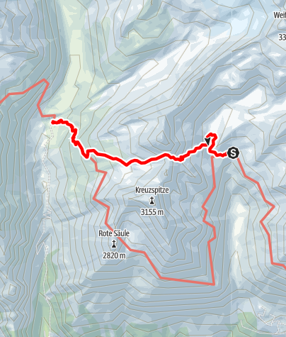 Karte / 2020 dag 5 Voorstel huttentocht Virgental