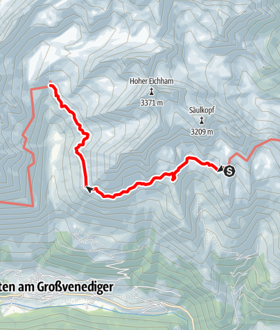 Karte / 2020 dag 3 Voorstel huttentocht Virgental