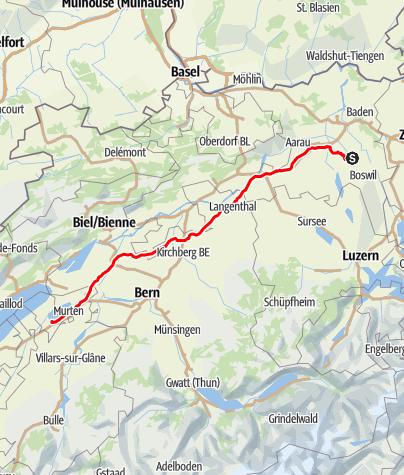 Karte / Etappe 1 Velowoche
