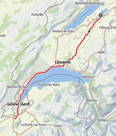 Karte / Etappe 2 Velowoche