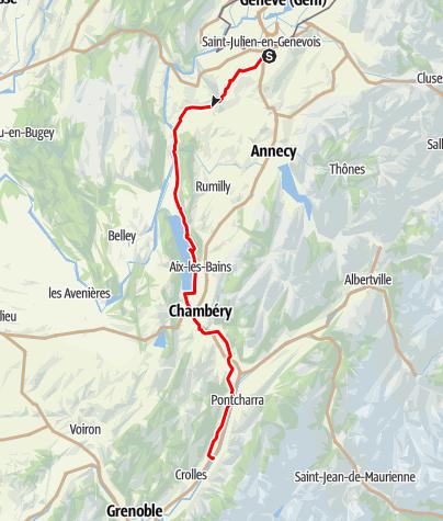 Karte / Etappe 3 Velowoche