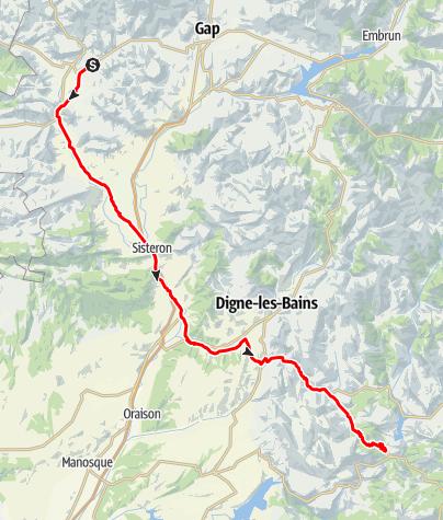 Karte / Etappe 5 Velowoche