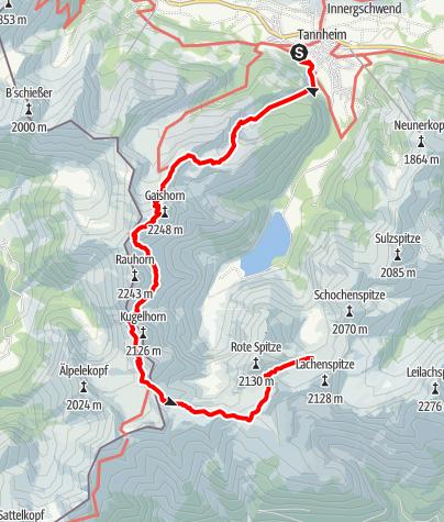 Mappa / Tannheim - Landsberger Hütte (Teil 1 der Rundwanderung)
