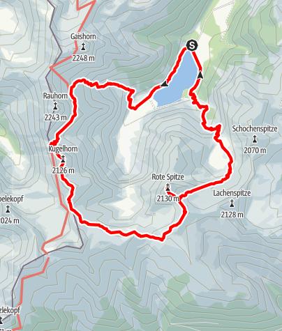 Karte / Kugelhorn - Steinkarspitze / Rundtour Vilsalpsee