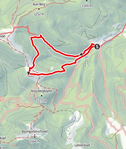 Map / Rundwanderung zur Kreuzbergalm auf alten Wegen