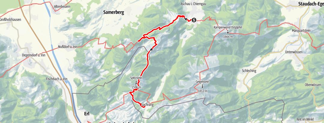 Karte / 3-Tagestour Hochries und Spitzstein