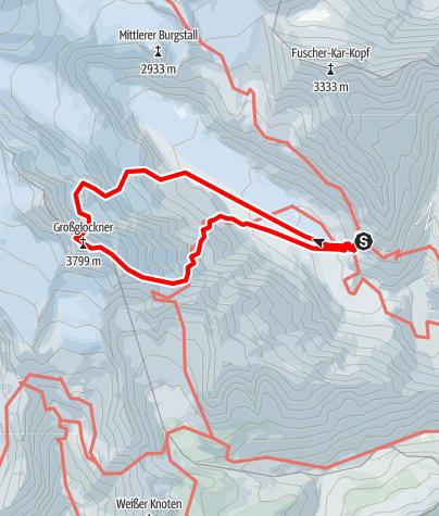 Karte / Großglockner (3.798 m) Nordwand - Berglerrinne
