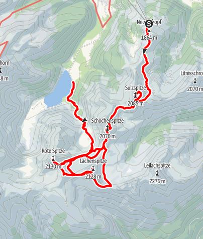 Karte / Landsberger Hütte 5-Gipfel-Tour