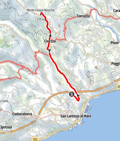 Karte / Wanderung am 9. Oktober 2019