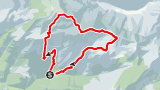 Karte / Rundweg über Hoher Nock