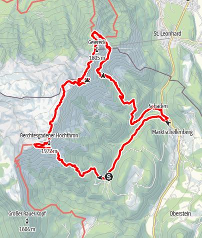 Karte / Bertesgarden Unterbergüberschreitung