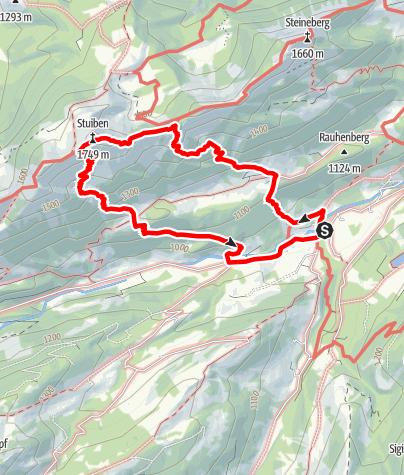 Karte / Von Gunzesried auf den Stuiben